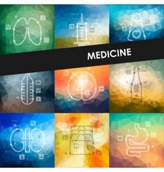 medicine timeline infographics with blurred vector image