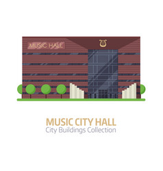 music city concert hall vector image