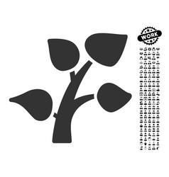 Plant tree icon with people bonus vector