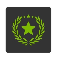 Proud icon from Award Buttons OverColor Set vector image vector image