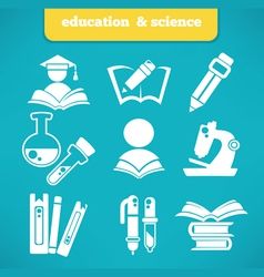 science and education vector image vector image