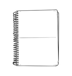 sketch of notepad vector image