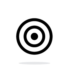 Target icon on white background vector image vector image