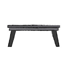 Wooden table office furniture elegant decoration vector