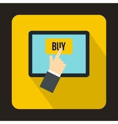 Online shopping icon flat style vector