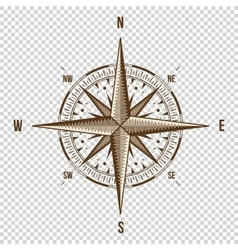 Compass high quality  old vector