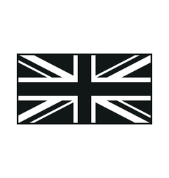United kingdom flag monochrome on white background vector