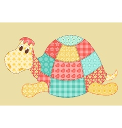 Turtle patchwork vector