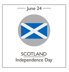 Scotland independence day vector