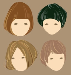 Hair cute girl vector