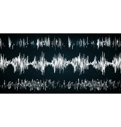 Sound wave on a dark background vector image