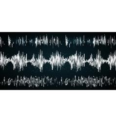 Sound wave on a dark background vector