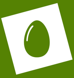 chicken egg sign  white icon obtained as a vector image