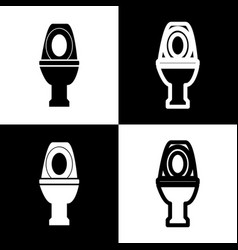 Toilet sign   black and white vector