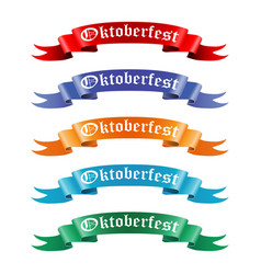 collection of colored ribbons with the text vector image