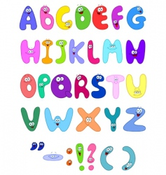 cartoon letters vector image