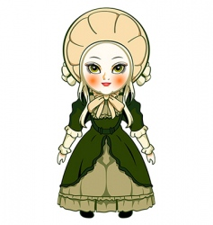 Victorian doll vector image
