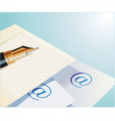 pen and paper vector image