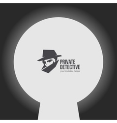 Private detective logo vector