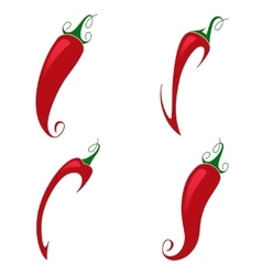 Red pepper on white background vector