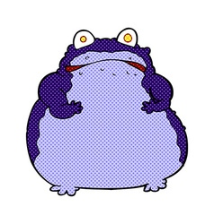Comic cartoon fat frog vector
