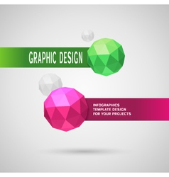 Abstract infographic design with color spheres vector image