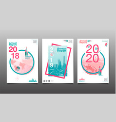 annual report 201820192020 template layout vector image vector image