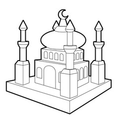 Arabic town icon outline style vector