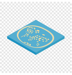 Artificial islands in the uae isometric icon vector