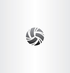 black volleyball icon design vector image vector image