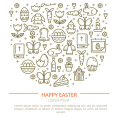 brochure easter with your text vector image