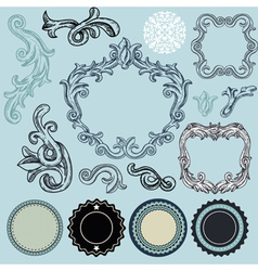 Collection of vintage design elements vector image