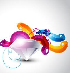 Colorful stylish diamond vector