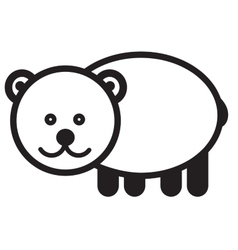 Cute animal bear - vector image vector image