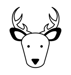 Cute reindeer character icon vector
