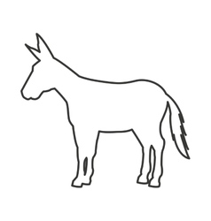 donkey silhouette isolated icon vector image