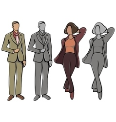 Female Avatar and Male vector image