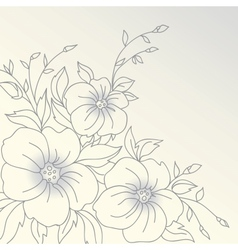 Flowers hand drawn vector