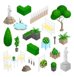 Garden park landscape elements vector
