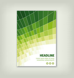 Green business cover brochure design with lines vector image