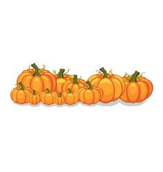 Halloween pumpkins horizontal banner vector
