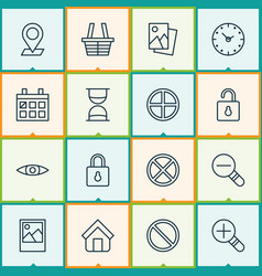 Internet icons set collection of obstacle unlock vector