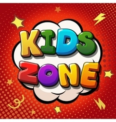Kids zone banner design Children playground zone vector image