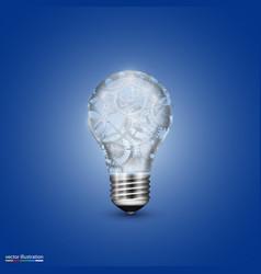 Light bulb with a mechanism vector