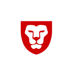 Lion head with shield vector