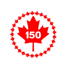 maple leaf 150 canada graphic vector image vector image