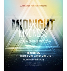 Midnight Madness Party Template poster vector image