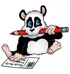 panda and postcard vector image vector image