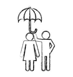pictogram couple design vector image
