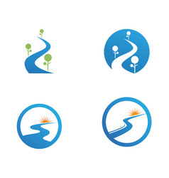 river logo and symbols icons template app vector image vector image